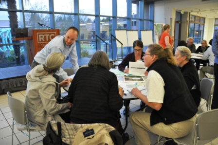 Community residents at a public routing workshop hosted by PSE in 2014.