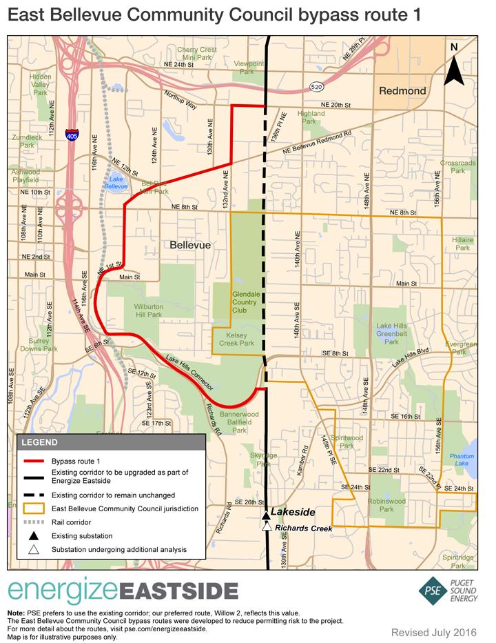 Segment 1 Route map